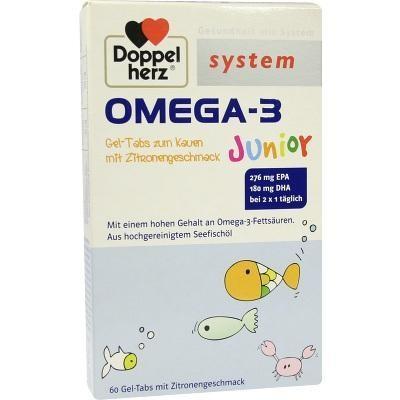【德国UKA】 Doppelherz 双心 儿童深海鱼油咀嚼片 60片 特价:17 6欧