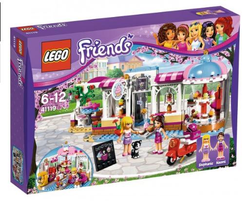 LEGO 乐高 好朋友系列 心湖城蛋糕咖啡厅组装积木 41119