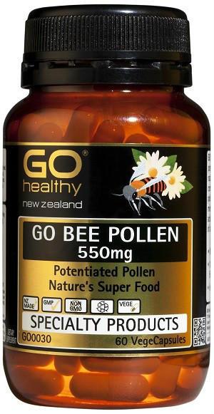 【新西兰PD折扣药房】GO Healthy 高之源 550mg 蜂花粉胶囊 60粒 13 25纽 约¥63