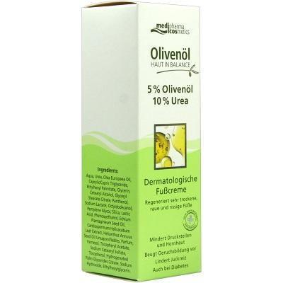 Olivenol 德丽芙平衡肌肤橄榄油精华足部护理霜(5%橄榄油精华10%尿酸) 100ml  特价:9 57欧
