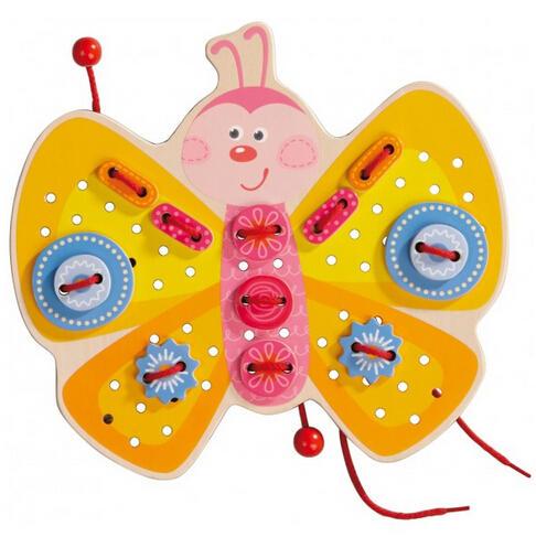 【全场满75欧包邮】HABA 装饰蝴蝶穿线游戏板
