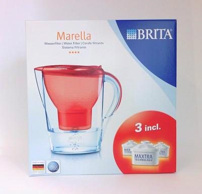 【德国UKA】Brita Marella滤水壶 一壶三芯2 4L 玫瑰红  特价:19 49欧(原价:22 53欧)
