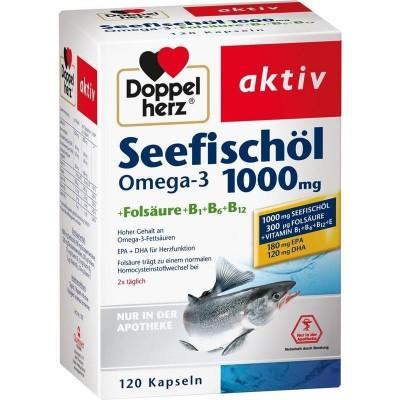 【德国UKA】Doppelherz 双心 深海鱼油1000毫克 特价:21 14欧