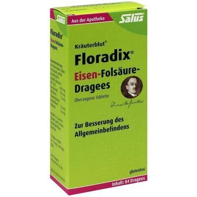 【德国UKA】Salus Floradix 铁元 叶酸 片剂 84片 七夕特价:8 7欧(原价:9 82欧)
