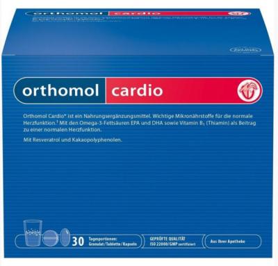 【德国UKA】Orthomol 奥适宝 心血管系统保健颗粒 胶囊组合装 30剂  特价:60 47欧