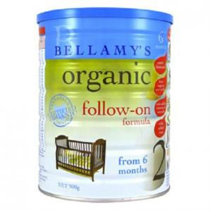 【凑单免邮】Bellamy& 039s 贝拉米 有机婴幼儿奶粉2段 900gAU$29 99,约¥153 22 澳洲直邮!