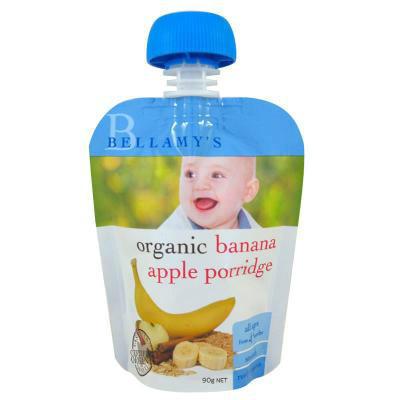 【凑单免邮+注册大礼包】Bellamy& 039s 贝拉米 有机香蕉苹果泥粥 90g AU$1 99,¥10 17 澳洲直邮!