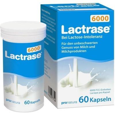 【德国UKA】 Lactrase 乳糖酶6000单位 60粒(乳糖不耐受) 特价:8 18欧,约60 5元