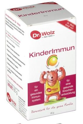 【德国DC德式康药房新上线-全场满56欧包邮】 Dr  Wolz 伍兹博士 儿童保健粉 65g 提高免疫力 促进骨骼