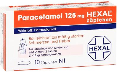【DC德式康药房-上线特惠+包邮包税】Hexel 婴儿止痛退烧栓剂 10片 6个月-2岁婴儿儿童适用