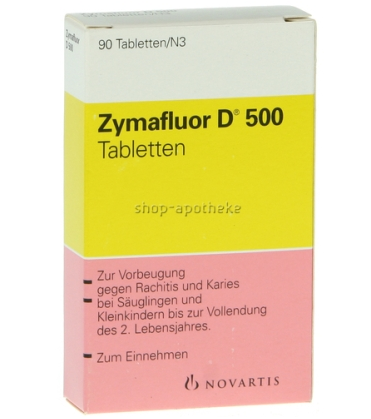 【DC德式康药房-包邮包税最后一天】Zymafluor 维生素D钙片 90片