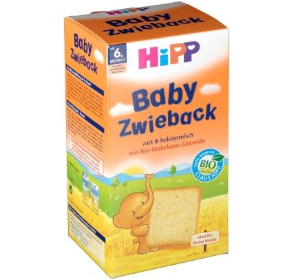 【DC德式康药房-专享活动-包邮包税】Hipp 喜宝 有机全麦磨牙面包干 100g 适合六个月及以上宝宝