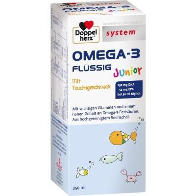 【德国UKA】Doppelherz双心系列儿童深海鱼油液 250ml  特价:10 76欧,约80 4元