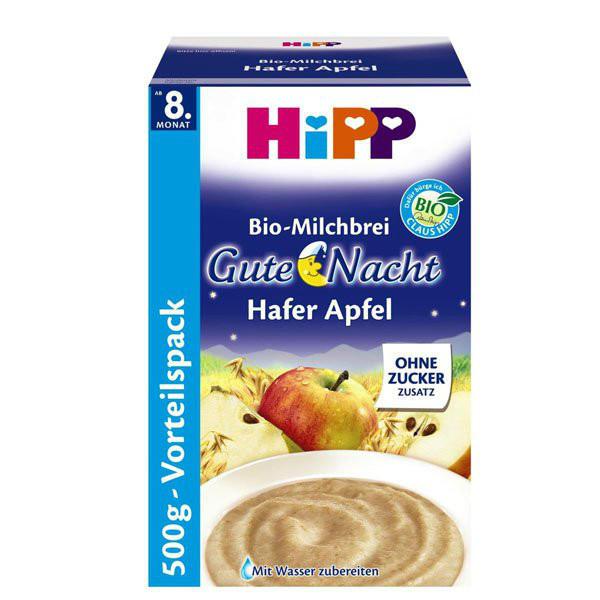Hipp 喜宝有机宝宝晚安燕麦+苹果米粉 特价+用码再减5欧+税补15欧