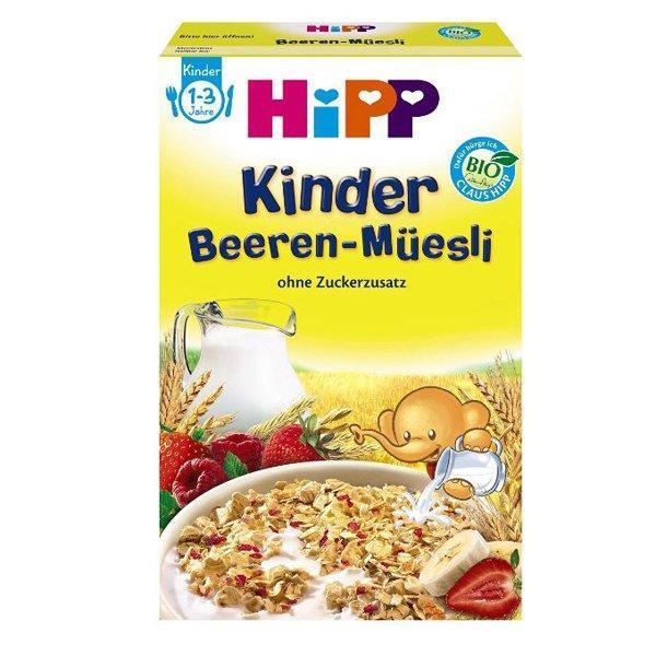 3 x Hipp 喜宝 有机草莓覆盆子浆果麦片(1-3岁)200g 特价+用码再减5欧+税补15欧