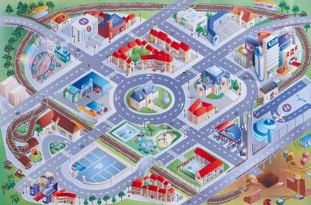 【全场65欧免邮-关注Jako-o再领5欧优惠券】 JAKO-O 城市图案游戏垫 还可当地毯