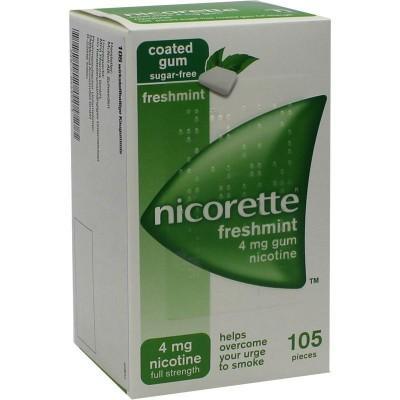 【德国UKA】 Nicorette 薄荷味戒烟口香糖4mg 105粒  特价:23 00欧,约171元