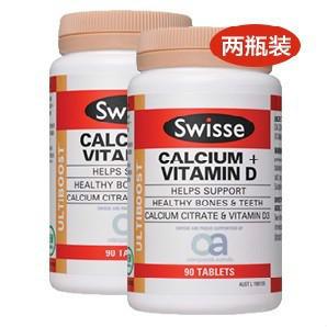 【凑单满减】【两瓶装,惊爆价!】Swisse 钙元素+维生素D营养补充片 90片 AU$19 99,约¥101 40 澳洲直