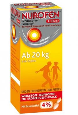 【德国UKA】3 Nurofen 布洛芬 止痛退烧口服液 草莓味4% (体重20kg+)150ml   特价:4 54欧,约33 7元