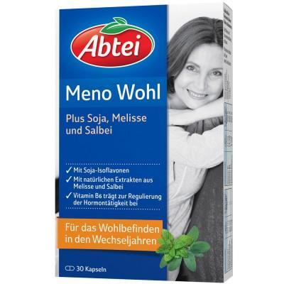 【德国UKA】Abtei 更年期保健大豆精华胶囊30粒  特价:8 12欧(原价:9 50欧),约60 3元