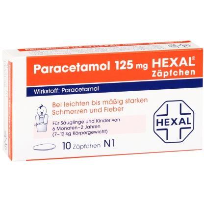 【德国DC德式康线上药房-0邮费还包税】Hexal 止痛退烧栓剂 10片 6个月-2岁婴儿儿童适用