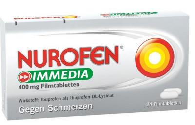 【德国UKA】Nurofen 布洛芬 400mg快速止痛片(感冒头痛)24粒  特价:6 86欧,约51 1元