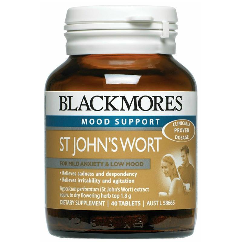【限时特价】Blackmores 澳佳宝 St John& 039s Wort 缓解精神忧郁 40粒【满79澳免邮+下单立减5澳】