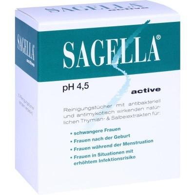 【德国UKA】Sagella Active系列私处护理湿纸巾 为孕妇设计 10套  特价:2 81欧,约21 1元