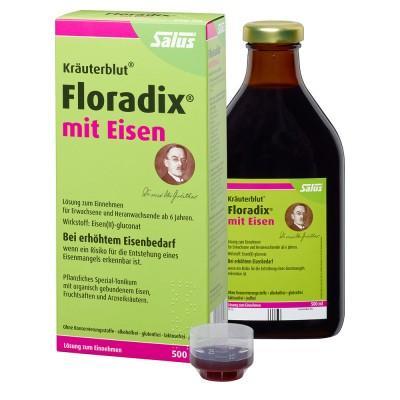 【德国UKA】Salus Floradix mit Eisen 铁元 补铁补气补血抗疲劳 500ml  特价:17 63欧,约132 5元