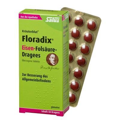 【德国UKA】Salus Floradix 铁元 叶酸 片剂 84片 特价:15 42欧,约114元