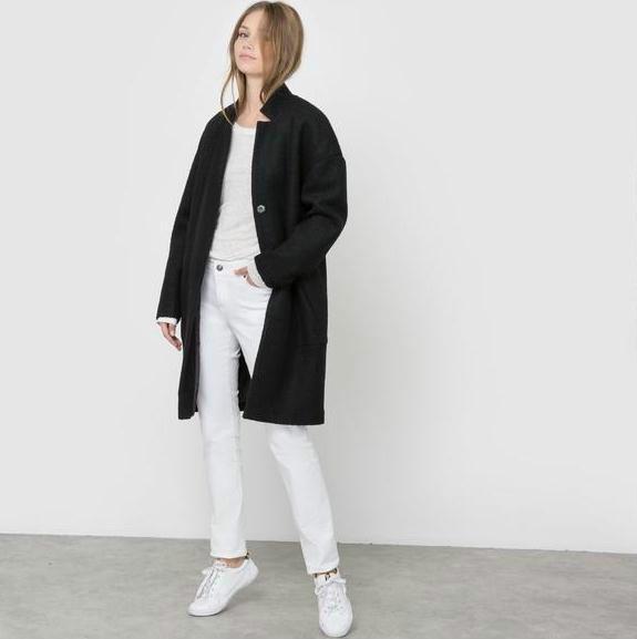 单品特价:R essentiel女士茧形外套  5折好价限时54 5欧元!