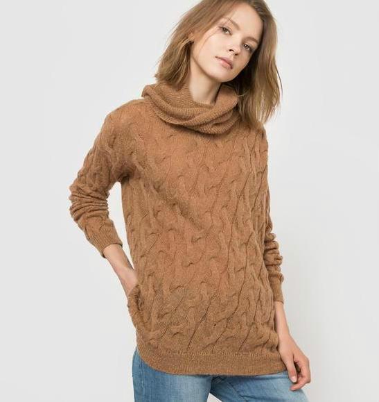 单品特价:R essentiel高领纯色羊毛毛衣 限时好价27 49欧元!