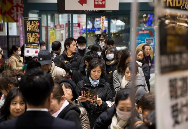 """看到日本""""黑色星期五""""购物现场,还是稳稳的坐在家里海淘吧"""