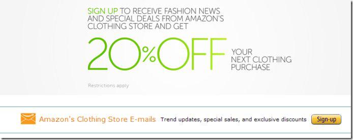 亚马逊服装类、鞋类新人8折码申请方法