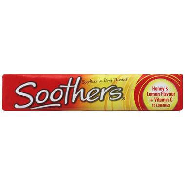 Soothers 蜂蜜柠檬维生素C含片 10 (缓解咽喉痛)