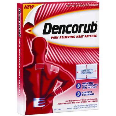 Dencorub 舒缓关节疼痛热敷发热贴 3片