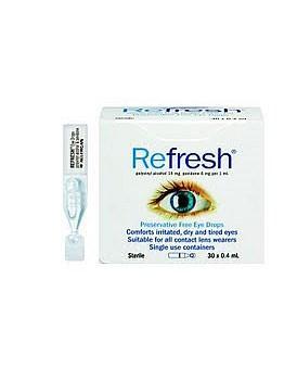 Refresh 抗疲劳滴眼液 眼药水 0 4ml30 支 (滋润眼镜,缓解干燥疲劳 ) 独立包装