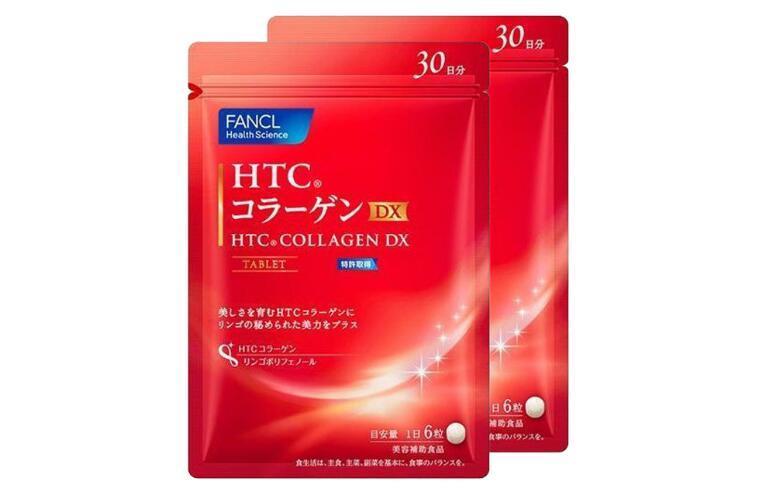 """海豚村3周年庆""""秒杀""""2件包邮装】Fancl 芳珂 HTC胶原蛋白片DX颗粒 2x180粒 海淘包邮价:178元"""