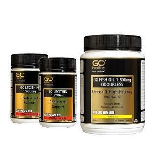 GO Healthy 高之源 无腥味鱼油420粒1+卵磷脂胶囊120粒2 |3件 (适合三高人群、中老年人)
