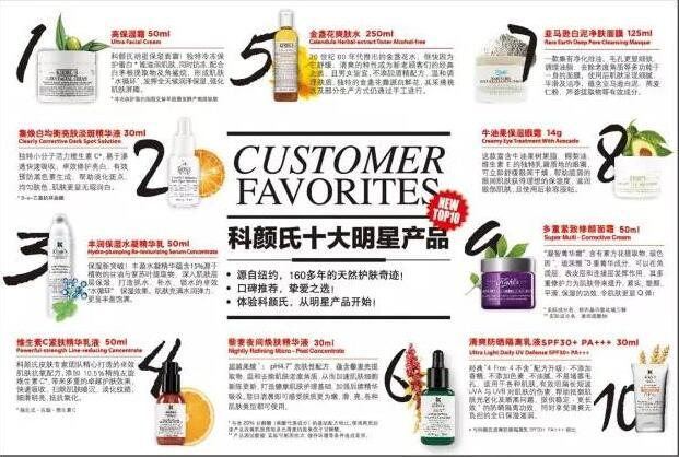 Kiehl's科颜氏明星产品Top10