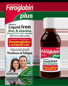 【首重减免+8折特惠】Vitabiotics Feroglobin® 加强版成人补铁营养液 200ml