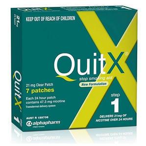 【任选4件用码享折上8 9折】QuitX 第一阶段尼古丁戒烟贴片