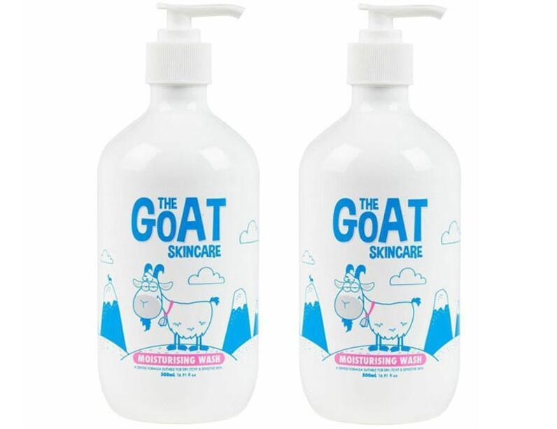 年货节【2件包邮装】The Goat Skincare 澳洲纯天然山羊奶沐浴露 2x500ml(原味)  海淘包邮价:105元