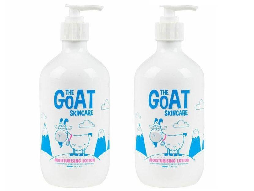 【2件包邮装】The Goat Skincare 澳洲纯天然山羊奶保湿润肤露 2x500ml  海淘包邮价:125元