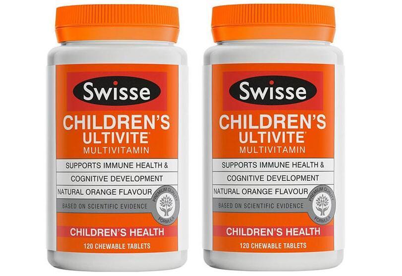 超级年货节【2件包邮装】Swisse 儿童复合维生素咀嚼片 2x120片 瓶  海淘包邮价:139元
