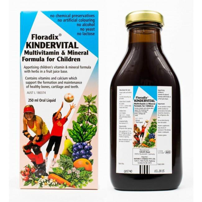 【邮费特惠+8折特惠】Floradix 铁元 儿童天然果蔬维生素补充液剂 250ml