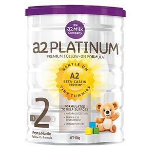【全场满86澳免邮】A2 白金系列2段婴儿配方奶粉 900g 罐(6-12个月)