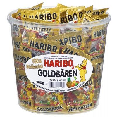 满68欧免邮+满88欧减5欧+特价 Haribo 哈瑞宝 迷你小熊软糖1桶 独立小包装 德国经典糖果