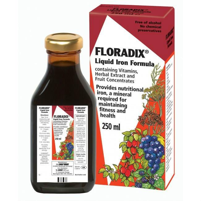 【邮费特惠+8折特惠】Floradix 铁元 补铁补血维生素营养液 250ml