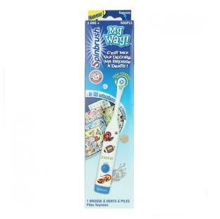 法国1001:Spinbrush 炫洁 My Way 我的方式 电动牙刷 男童花纹